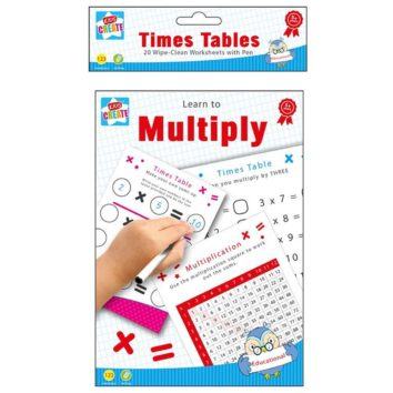 Wipe Clean Worksheet - Times Tables - Wholesale Novelty Stationery