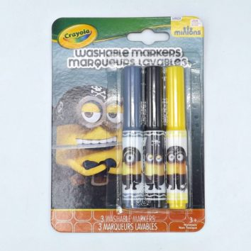 Crayola Pack of 3 Minions Eye Matie Pip Squeak